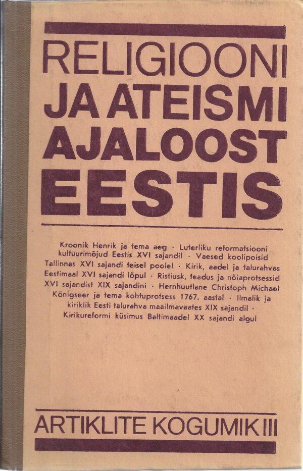 Religiooni ja ateismi ajaloost Eestis