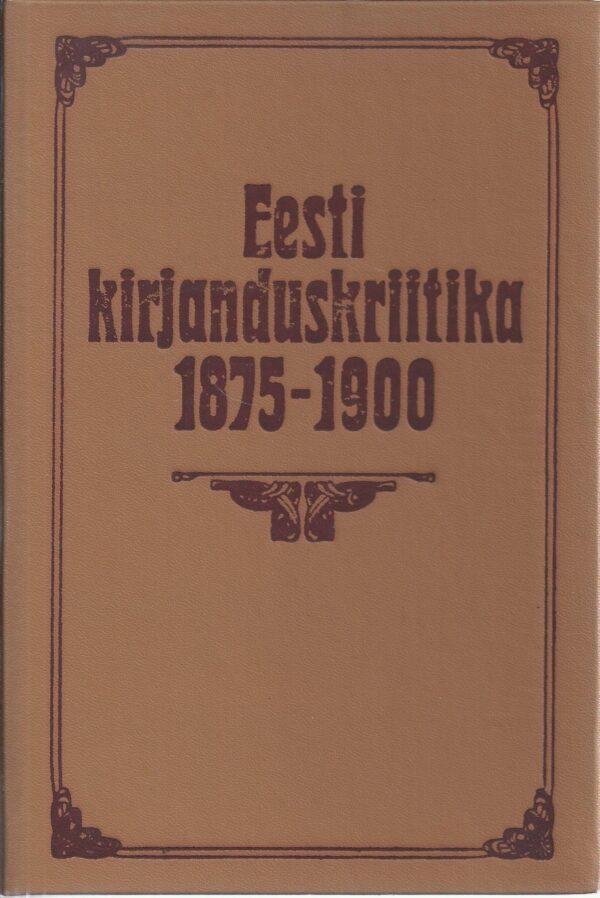 Eesti kirjanduskriitika 1875-1900