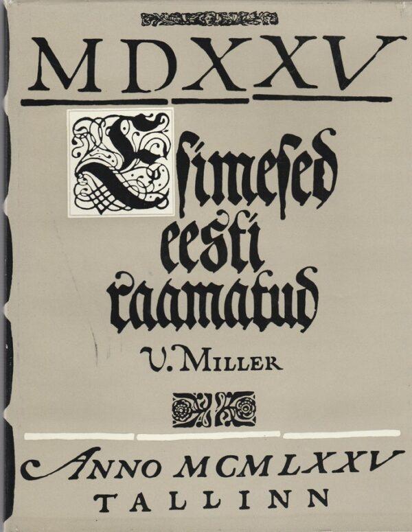 Esimesed Eesti raamatud