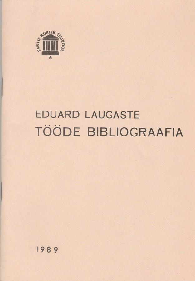 Eduard Laugaste tööde bibliograafia