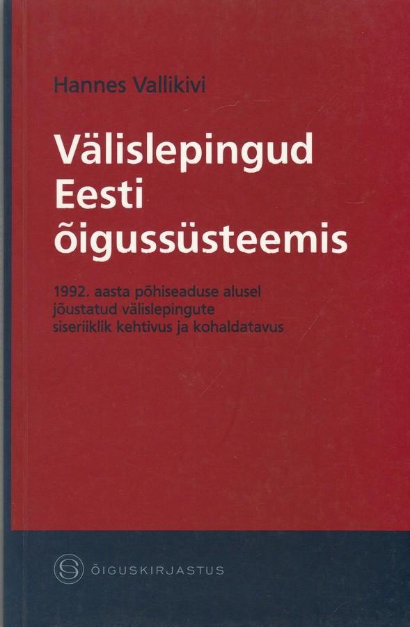 Välislepingud Eesti õigussüsteemis