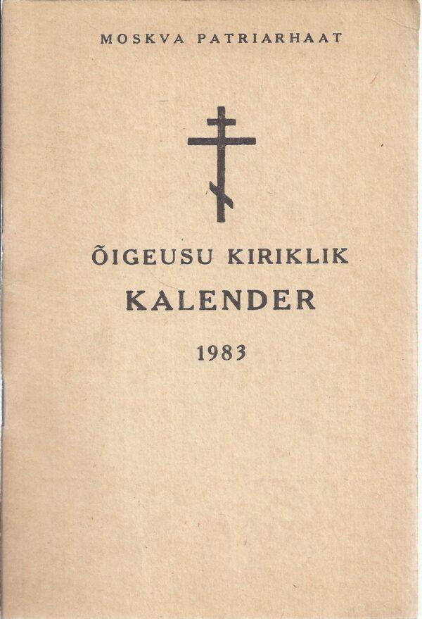 Õigeusu kiriklik kalender 1983